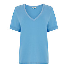 Buy Wishbone Jasmin Jersey T-shirt, Rich Blue Online at johnlewis.com