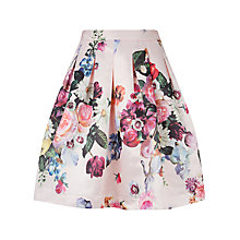 Buy Ted Baker Flowtii Oil Painting Printed Skirt, Nude Pink Online at johnlewis.com