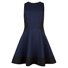 Buy Ted Baker Hearn Contrast Side Dress, Navy Online at johnlewis.com