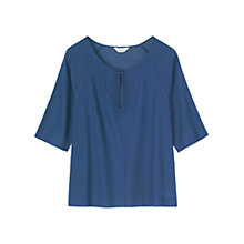 Buy Toast Chambray Top, Blue Online at johnlewis.com
