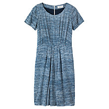 Buy Toast Lino Print Dress, Indigo/White Online at johnlewis.com