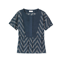 Buy Toast Eske Ikat Top, Blue/Ecru Online at johnlewis.com