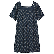 Buy Toast Esme Dress, Blue/Ecru Online at johnlewis.com