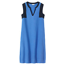Buy Toast Colour Block Linen Dress, Cornflower Blue/Navy Online at johnlewis.com