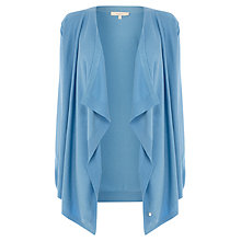 Buy Wishbone Willow Drape Cardigan, Light Blue Online at johnlewis.com