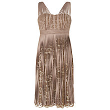 Buy Phase Eight Alberta Tassel Dress, Porcelain/Praline Online at johnlewis.com