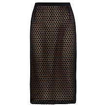 Buy Wishbone Lola Lace Pencil Skirt, Black Online at johnlewis.com