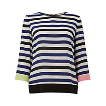 Buy Wishbone Sheila Silk Stripe Top, Multi Online at johnlewis.com