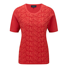 Buy Viyella Lace Front Jumper, Flamenco Online at johnlewis.com