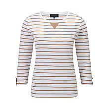 Buy Viyella Stripe Jersey Top, Stone Online at johnlewis.com