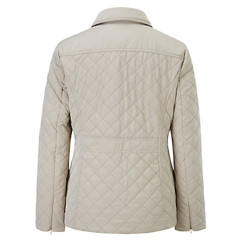 Buy Viyella Quilted Jacket, Stone Online at johnlewis.com