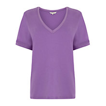 Buy Wishbone Jasmin Jersey T-shirt, Mid Purple Online at johnlewis.com