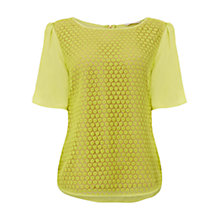 Buy Wishbone Lotty Lace Top, Mid Yellow Online at johnlewis.com