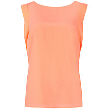 Buy Ted Baker Myrine Ruffle Sleeve Top, Orange Online at johnlewis.com