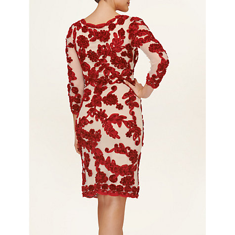 Buy Phase Eight Roberta Tapework Dress, Lipstick/Nude Online at johnlewis.com