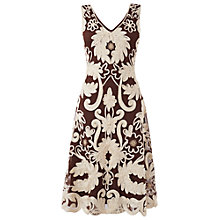 Buy Phase Eight Roma Tapework Dress, Praline/Cream Online at johnlewis.com
