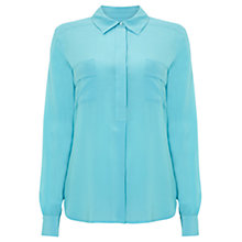 Buy Wishbone Honey Silk Shirt, Turquoise Online at johnlewis.com