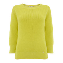 Buy Wishbone Aida Chunky Sweater, Mid Yellow Online at johnlewis.com