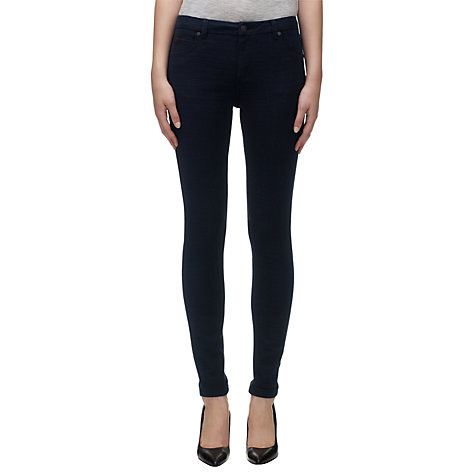 Buy Whistles Croc Jacquard Skinny Jeans, Navy Online at johnlewis.com