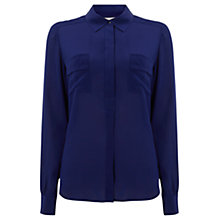Buy Wishbone Honey Silk Shirt, Navy Online at johnlewis.com