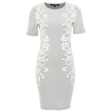Buy French Connection Jocelyn Jacquard Dress, Brule / Black Online at johnlewis.com