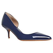 Buy Kurt Geiger Tilia Patent Leather Court Shoes, Navy Online at johnlewis.com