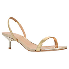 Buy Kurt Geiger Camelia Slingback Leather Sandals Online at johnlewis.com