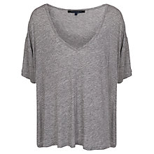 Buy French Connection Melanite Relaxed V-Neck T-Shirt Online at johnlewis.com