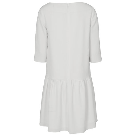 Buy French Connection Tennis Crepe Dress, Winter White Online at johnlewis.com