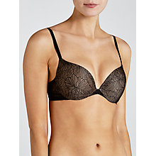 Buy Calvin Klein Icon Lace Perfect Push Up Bra, Black Online at johnlewis.com