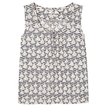 Buy Seasalt Boat Print Summer Top, Boat Race Swift Online at johnlewis.com