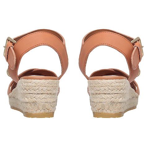 Buy Kurt Geiger Libby Leather Sandals, Tan Online at johnlewis.com
