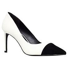 Buy KG by Kurt Geiger Bebe Court Shoes, White Online at johnlewis.com