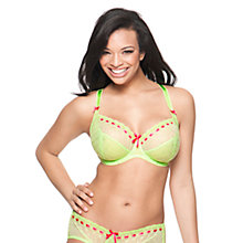 Buy Curvy Kate Portia Balcony Bra, Lime / Rose Online at johnlewis.com