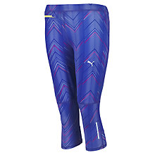 Buy Puma Graphic Print 3/4 Running Tights, Blue Online at johnlewis.com