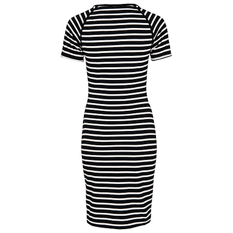 Buy French Connection County Cotton Dress, Black / Winter White Online at johnlewis.com
