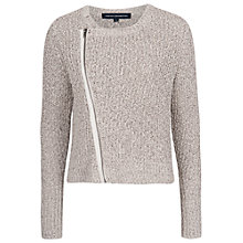 Buy French Connection Audrey Zip Cardigan, Oatmeal Melange Online at johnlewis.com