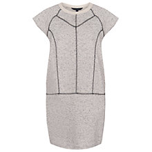Buy French Connection Speckled Sweat Dress, Porcelain Marl Online at johnlewis.com