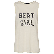 Buy French Connection Beat Girl Vest Top, Acid Zest Online at johnlewis.com