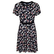 Buy French Connection Sahara Rose Jersey Dress, Black Multi Online at johnlewis.com