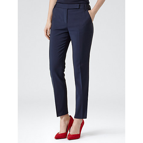 Buy Reiss Fitted Tailored Trouser, Indigo Online at johnlewis.com