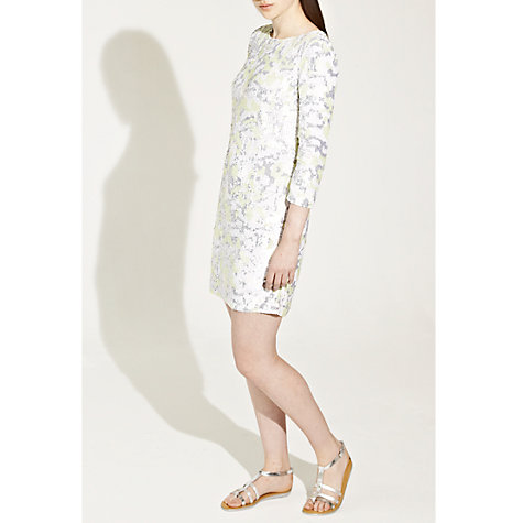 Buy French Connection Multi Animal Wave Dress, Acid Zest Multi Online at johnlewis.com