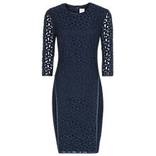Buy Reiss Lace Bodycon Dress, Indigo Online at johnlewis.com