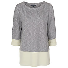 Buy French Connection Tudy Round Neck Top, Grey Marl Online at johnlewis.com