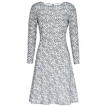 Buy Reiss Heidi Cube Print Silk Dress, Blue Online at johnlewis.com