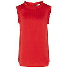 Buy Reiss Gathered Neck Shell Top Online at johnlewis.com