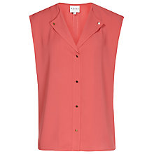 Buy Reiss Venetian Sleeveless Laser Cut Top Online at johnlewis.com