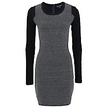 Buy French Connection Olivia Round Neck Dress, Blue/Black Online at johnlewis.com