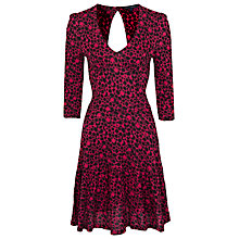 Buy French Connection Amakhala Crepe Dress, Plumpink/Black Online at johnlewis.com