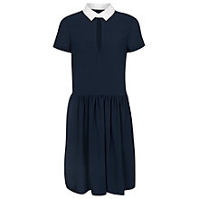 Buy French Connection Picnic Dress, Utility Blue/White Online at johnlewis.com